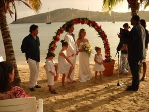 matrimonio ai tropici con la famiglia